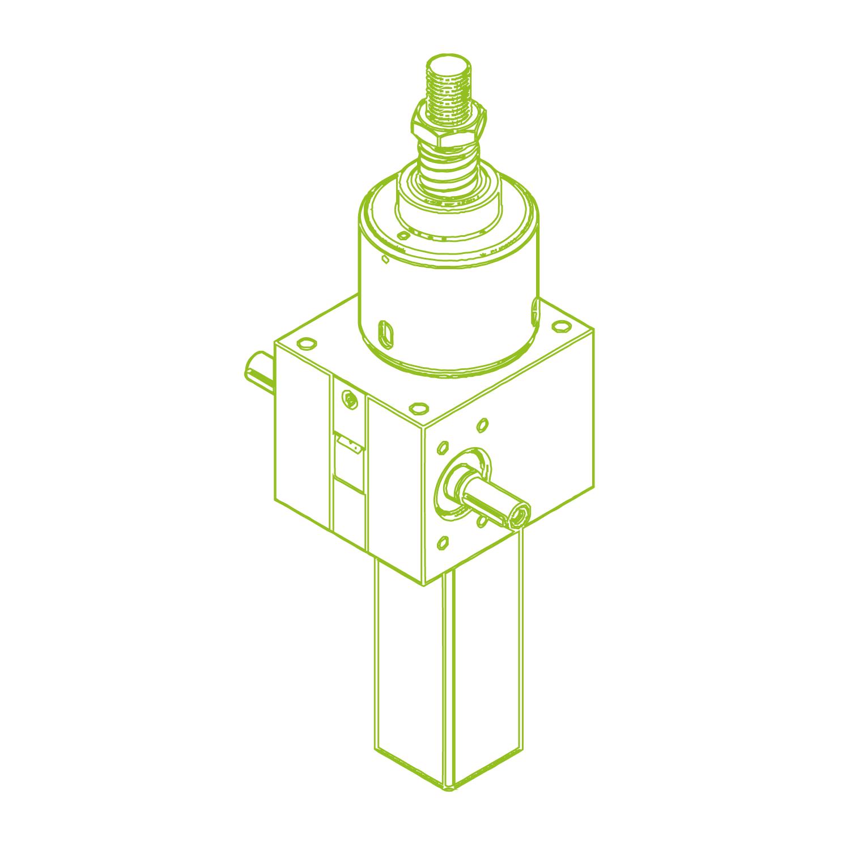 GSZ S-шариковый винт 100 кН 50×40