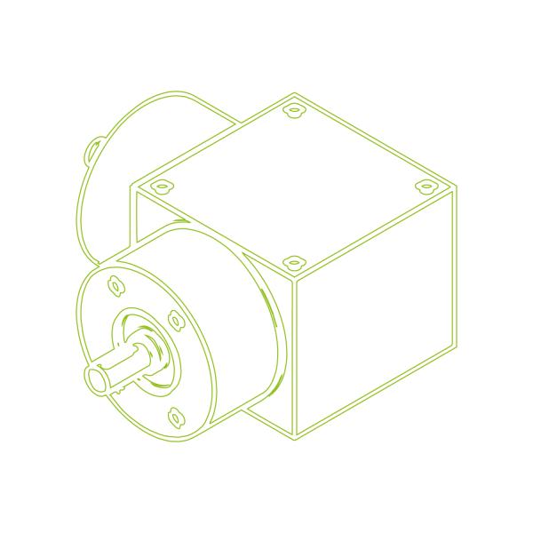 Конический редуктор | KSZ-H-10-L | Передаточное отношение  1:1