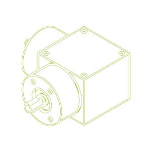 Конический редуктор | KSZ-H-10-L | Передаточное отношение  2:1