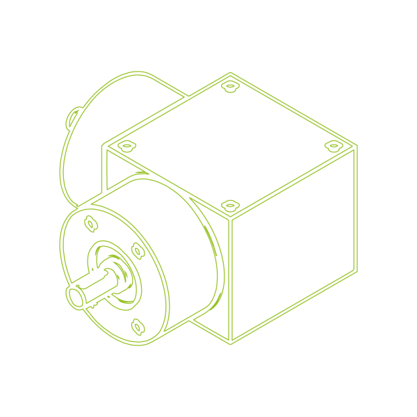 Конический редуктор | KSZ-H-5-L | Передаточное отношение 1:1