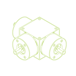 Конический редуктор | KSZ-H-5-T | Передаточное отношение 2:1