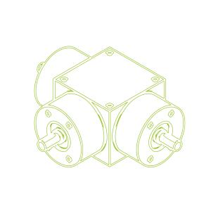 Конический редуктор | KSZ-H-5-T | Передаточное отношение 3:1