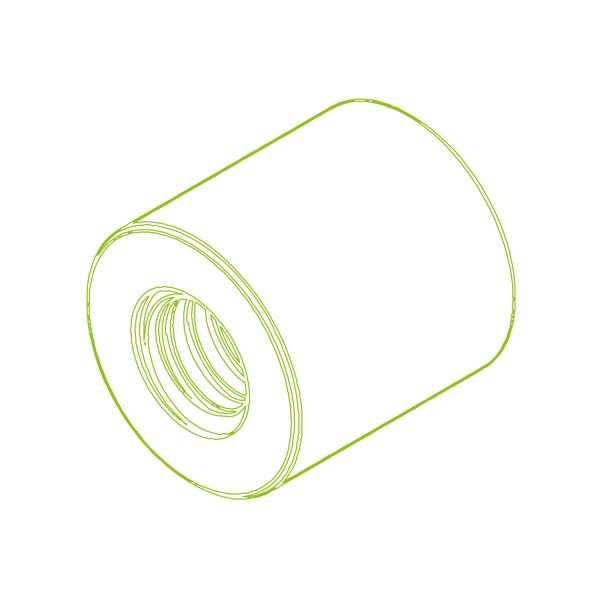 Длинная пластиковая гайка LKM